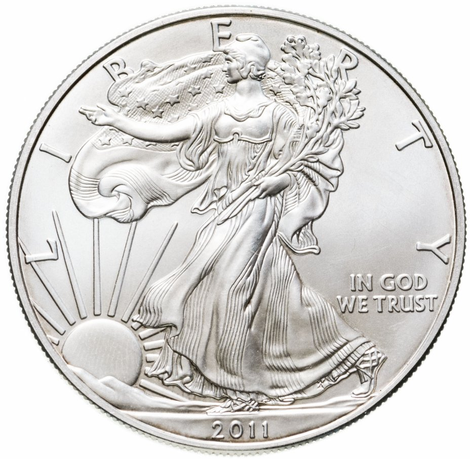 купить США 1 доллар (dollar) 2011  Американский серебряный орёл Без отметки монетного двора