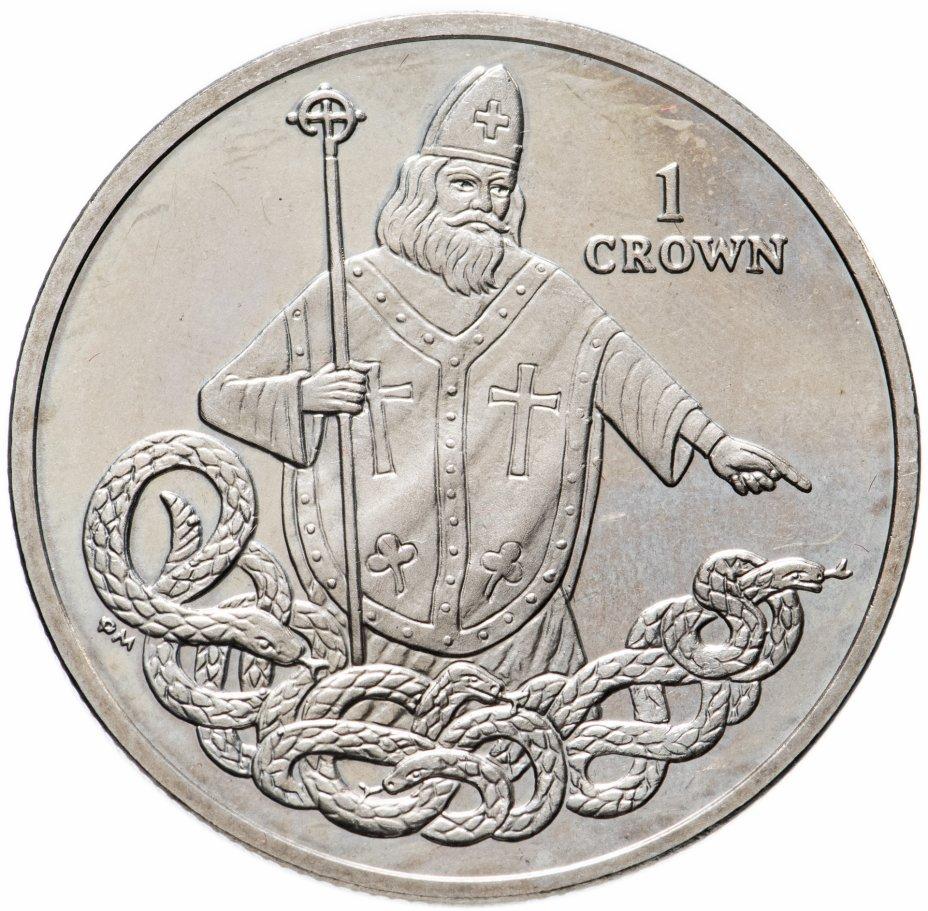 """купить Остров Мэн 1 крона (crown) 2013 """"Святой Патрик"""""""