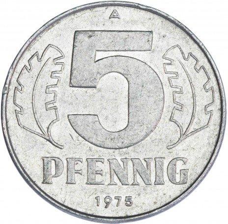 купить Германия 5 пфеннигов 1975