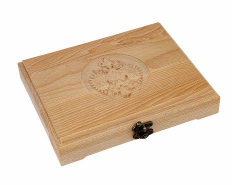 купить Футляр деревянный для 18 монет (бук)