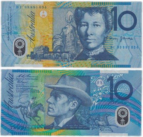 купить Австралия 10 долларов 1993-1994 (Pick 52a) пластик