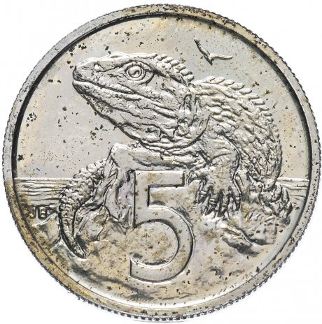 купить Новая Зеландия 5 центов 1984
