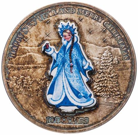 """купить Науру 10 долларов 2008 """"Новый год - Снегурочка"""", в футляре, с сертификатом"""