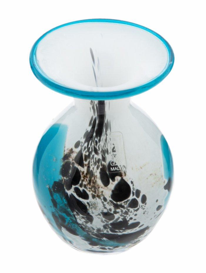 """купить Ваза с абстрактным узором, стекло, фирма """"Mdina Glass"""", Мальта, 2000-2015 гг."""