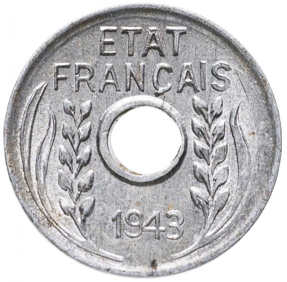 купить Французский Индокитай 1 сантим (centime) 1943 (гладкий гурт)