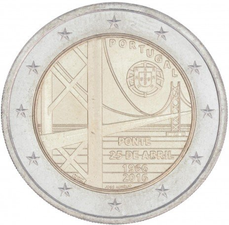 купить Португалия 2 евро 2016 Мост