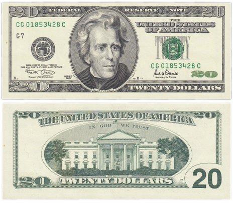 купить США 20 долларов 2001 (Pick 512)