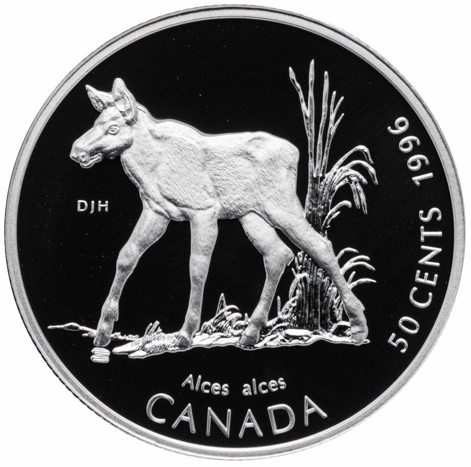 """купить Канада 50 центов (cents) 1996   """"Детёныши диких животных - Лосёнок"""""""