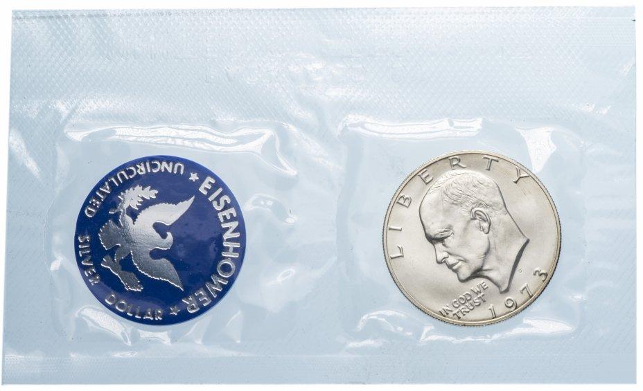 купить США 1 доллар 1973 S в запайке