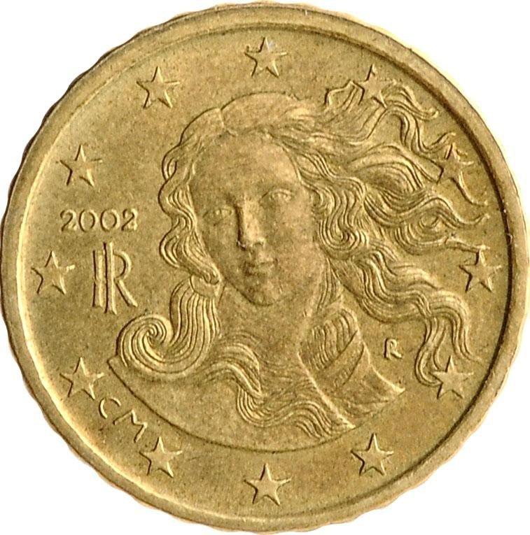 купить Италия 10 евро центов (euro cent) 2002-2007, случайная дата