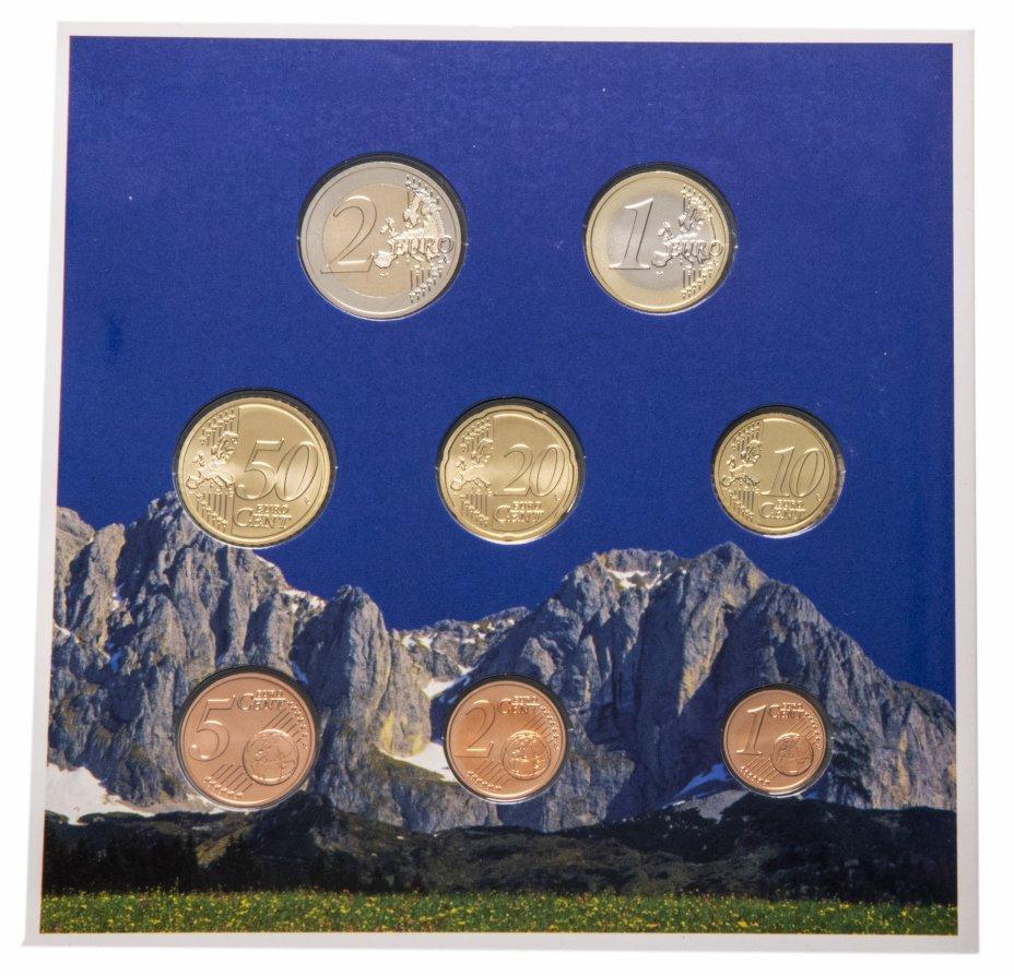 купить Австрия 2009 официальный годовой набор евро из 8 монет в буклете