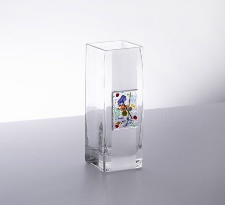 купить Ваза с абстрактным цветным декором, цветное стекло, Россия, 2000-2015 гг.