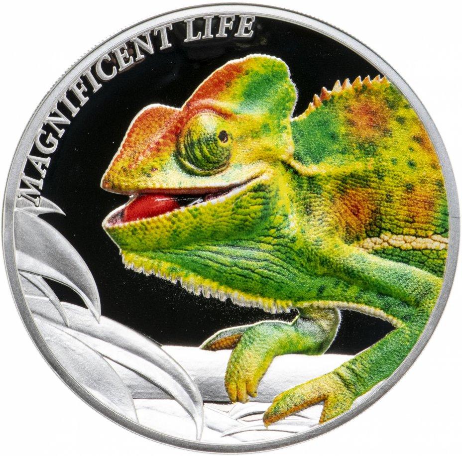 """купить Острова Кука 5 долларов 2020 """"Великолепная жизнь - Хамелеон"""" в футляре, с сертификатом"""