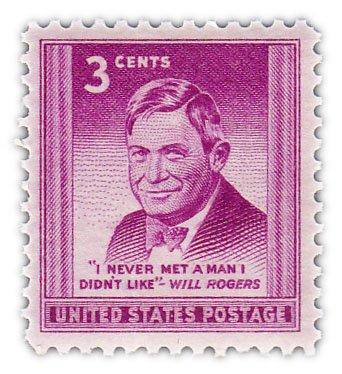 """купить США 3 цента 1948 """"Уилл  Роджерс"""""""