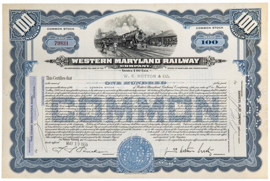 купить Акция США Western Maryland Railway Company, 1950-1955 гг.