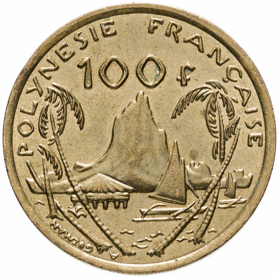 купить Французская Полинезия 100 франков (francs) 2006-2019, случайная дата