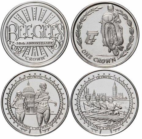 купить Остров Мэн набор из 4-х монет 1 крона 2005-2010