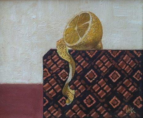 купить Картина «Лимон», холст, масло, художник Ирина Казарновская,  Россия, 2016 г.