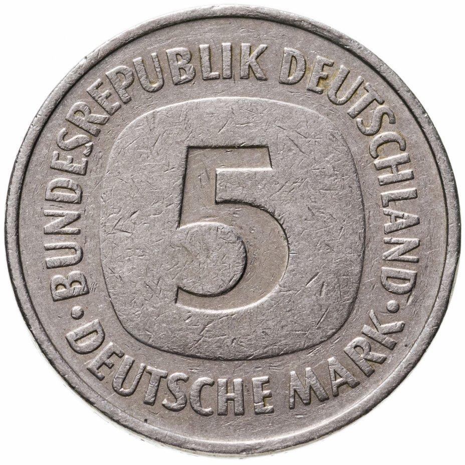 """купить Германия 5 марок 1976 F знак монетного двора: """"F"""" - Штутгарт"""