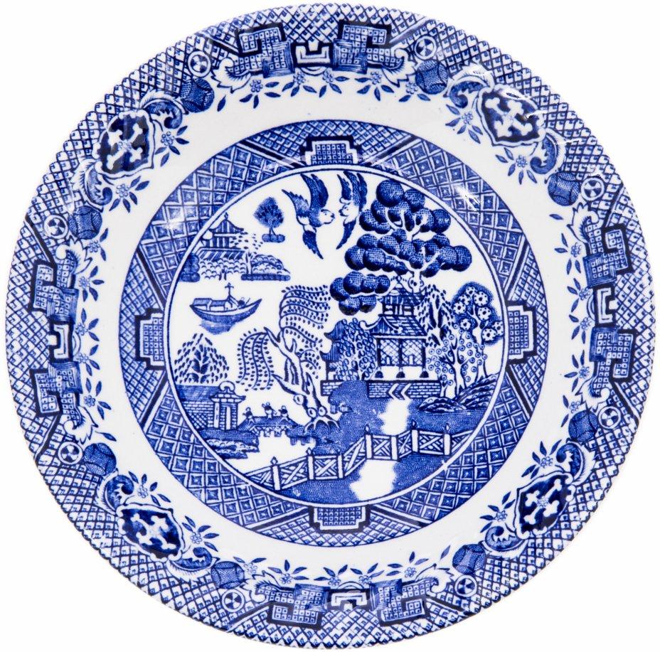 """купить Тарелка декоративная в стиле """"шинуазри"""", фарфор, деколь, Англия, 1960-1990 гг."""