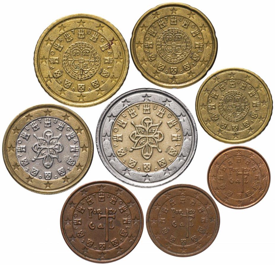 купить Португалия полный годовой набор евро для обращения 2002 (8 штук, VF-XF)