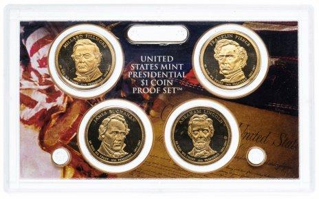 """купить США Набор монет 1 доллар """"Президенты"""" 2009 Proof в буклете"""