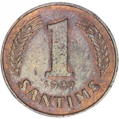 купить Латвия 1 сантим 1937