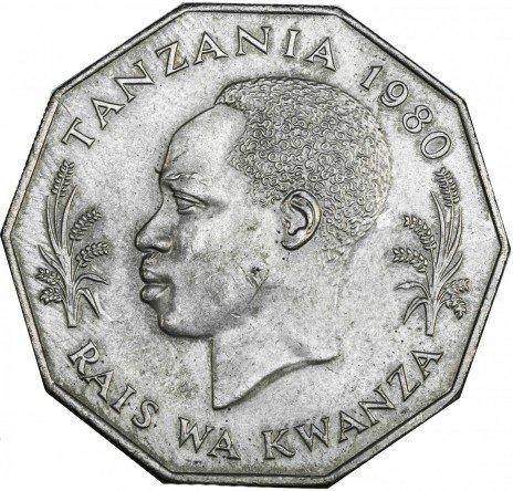 купить Танзания 5 шиллингов 1980
