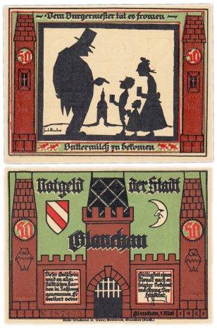 купить Германия (Саксония: Глаухау) 50 пфеннигов 1921 (436.1/B1/1)