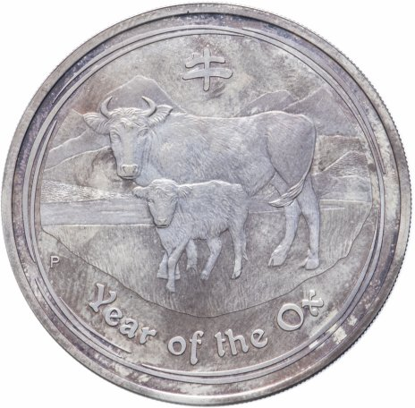 """купить Австралия 1 доллар 2009 """"Восточный календарь - Год быка"""""""