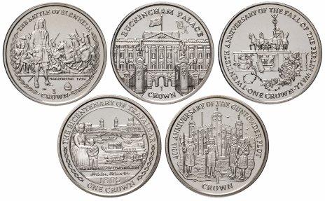купить Остров Мэн набор из 5 монет 1 крона 2005-2010