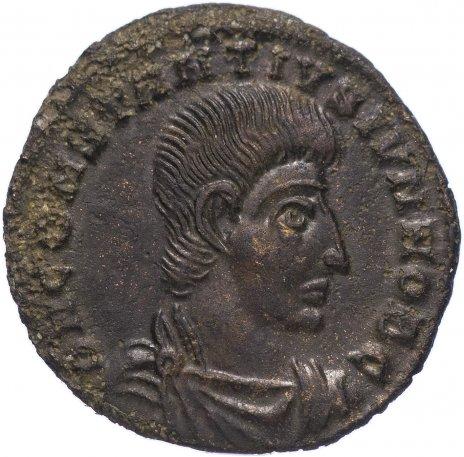 купить Римская Империя Констанций II 324–361 гг фоллис (реверс: воин поражает копьем всадника)