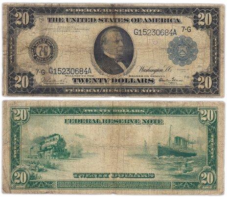 купить США 20 долларов 1914 Series 1914 (Pick 361) Chicago, Burke-Glass
