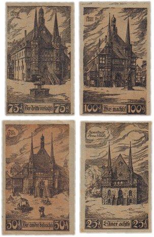 купить Германия (Саксония: Вернигероде) набор из 4-х нотгельдов 1921