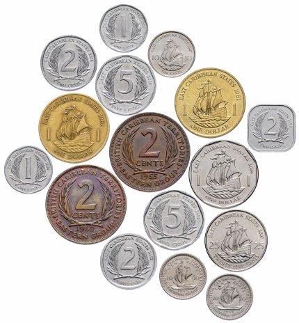 купить Британские Карибские Территории (Восточные Карибы) набор из 16 монет 1955-2008