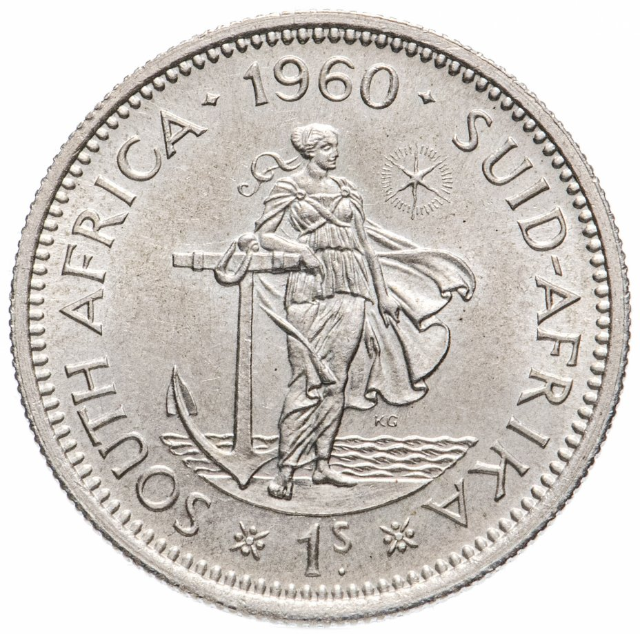 купить ЮАР 1 шиллинг (shilling) 1960