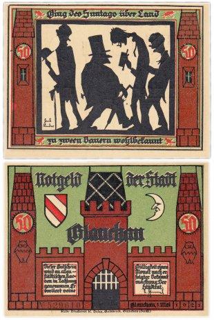 купить Германия (Саксония: Глаухау) 50 пфеннигов 1921 (436.1/B1/2)