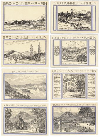 купить Германия (Вестфалия: Бад-Хоннеф) набор из 8 нотгельдов 1921