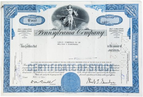 купить Акция США Pennsylvania Company 1964