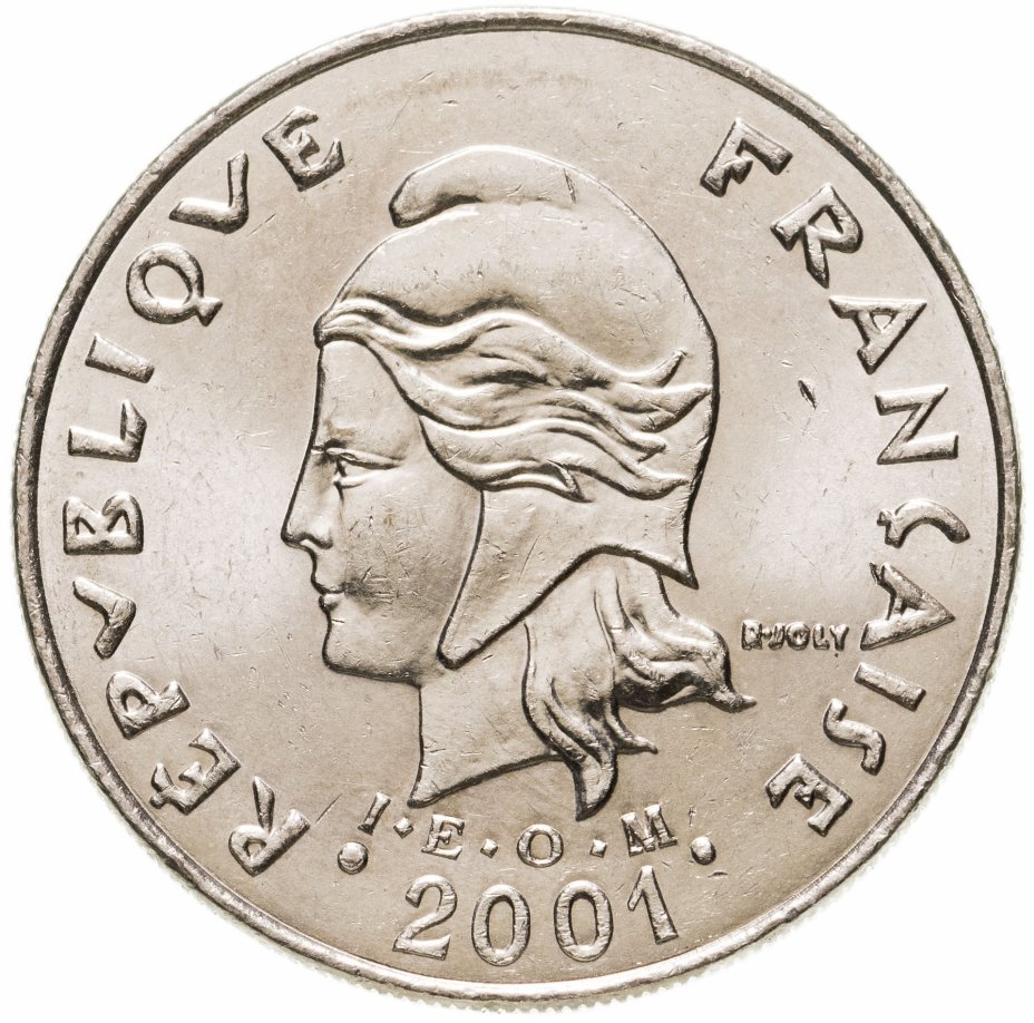 купить Новая Каледония 20 франков (francs) 2001