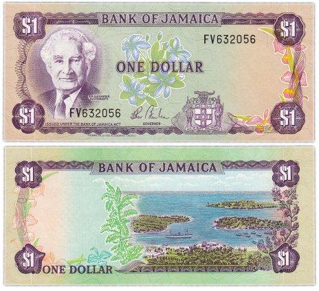 купить Ямайка 1 доллар 1982-86 (Pick 64b)