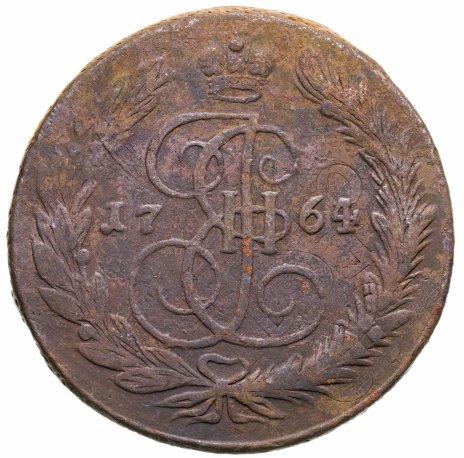 """купить 5 копеек 1764 ЕМ со следами перечеканки из 10 копеек 1762 г. """"Барабаны"""""""