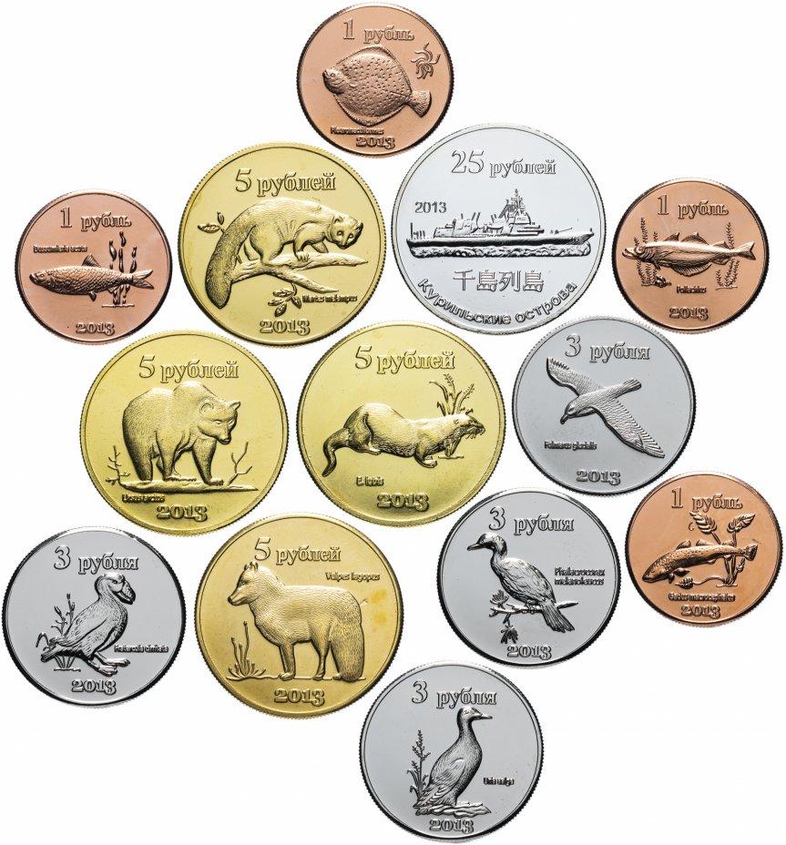 купить Курильские острова набор монетовидных жетонов 2013 (13 штук)