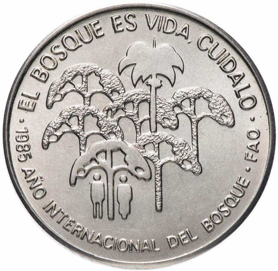 купить Куба 1 песо (peso) 1985   Международный год лесов