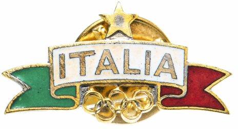 купить Значок Италия, Олимпиада, спорт, эмаль