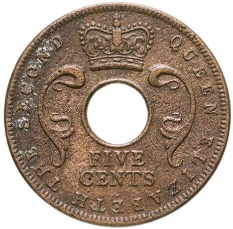 купить Британская Восточная Африка 5 центов (cents) 1957