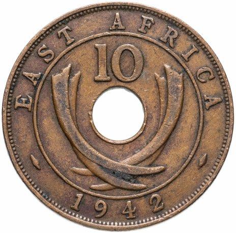 купить Британская Восточная Африка 10 центов (cents) 1935-1945, случайная дата