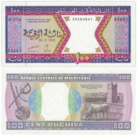 купить Мавритания 100 угий 1999 (Pick 4i)