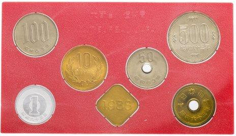 купить Япония Годовой набор монет 1988 (6 монет + жетон)