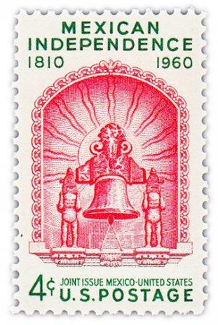 """купить США 4 цента 1960 """"150 лет Мексиканской независимости"""""""